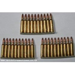 5.56mm NATO Rounds on Stripper Clips SA80