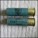 12G R.T.O. ELEY DEEP SHELL CASE DARK GREEN CARTRIDGE  [INERT]