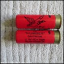 12G WHEATER THE HUMBER RED CARTRIDGE  [INERT]