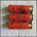 12G WOODS W UNIVERSAL [DOG] ORANGE CARTRIDGE  [INERT]