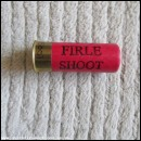 12G THE FIRLE SHOOT RED CARTRIDGE  [INERT]