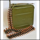 Vickers Maxim 1910 PKM 7.62x54mm Ammo Tin & Bullet Belt
