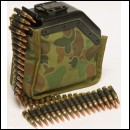 5.56mm M249 MINIMI SAW Bullet Belt x50 rounds in Special Forces pouch
