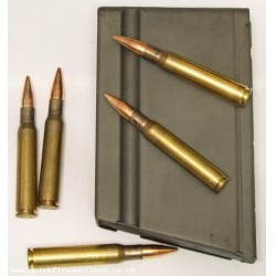 BAR Browning Automatic Rifle Magazine & .30 CAL Inert Rounds