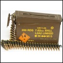 200rd 7.62mm GPMG M134 Minigun Inert Bullet Belt in Tin